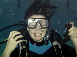 Great underwater smile, Yvonne!