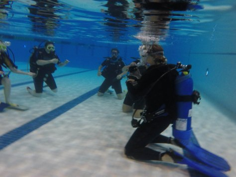 Virginia giving some underwater direction