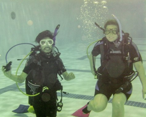 Two very happy divers!