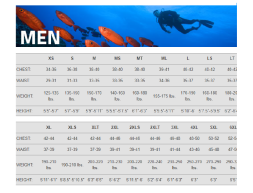 Henderson size chart - men